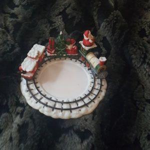 White Barn Christmas train candle holder